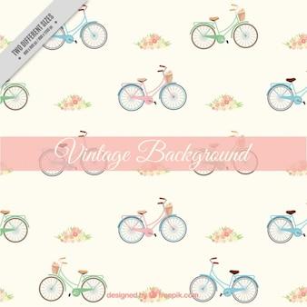 Fondo de bicicleta dibujada a mano en estilo vintage