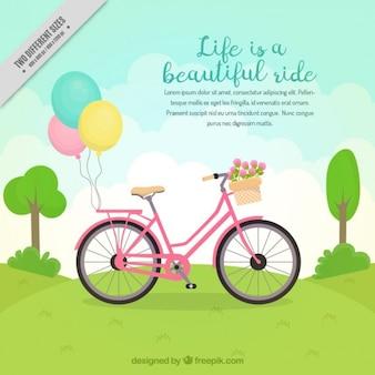 Fondo de bicicleta en el paisaje