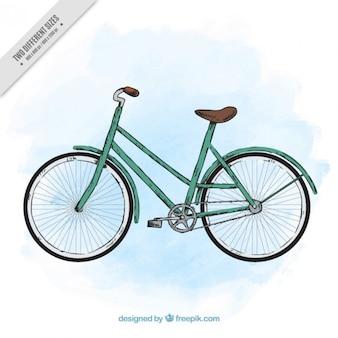 Fondo de bicicleta estilosa vintage dibujada a mano
