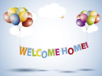 Fondo de bienvenido a casa