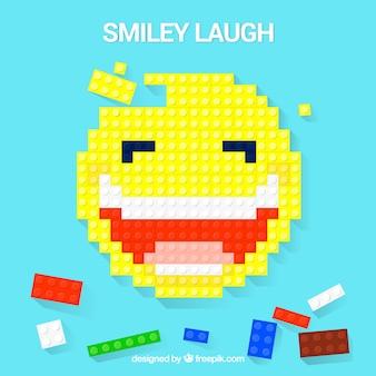 Fondo de bloques con diseño de sonrisa