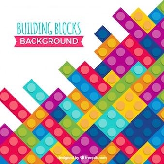 Fondo de bloques de construcción de plástico