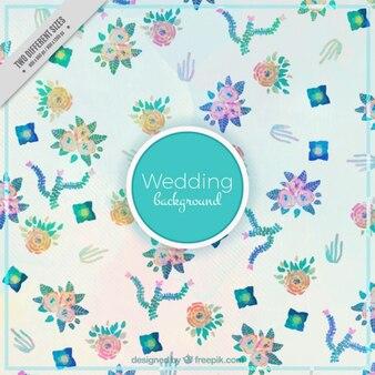 Fondo de boda de pequeñas flores de acuarela