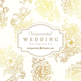 Fondo de boda ornamental