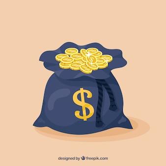 Fondo de bolsa con monedas