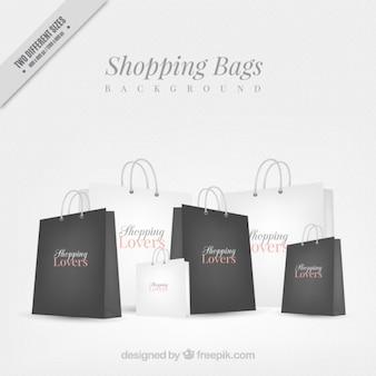 Fondo de bolsas elegantes de compra