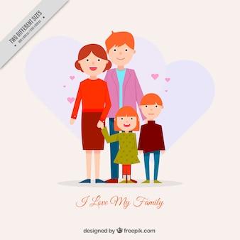 Fondo de bonita familia unida