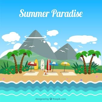 Fondo de bonito paisaje de verano