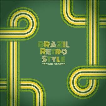 Fondo de brasil de estilo retro