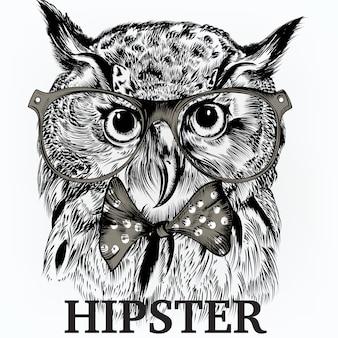 Fondo de búho hipster