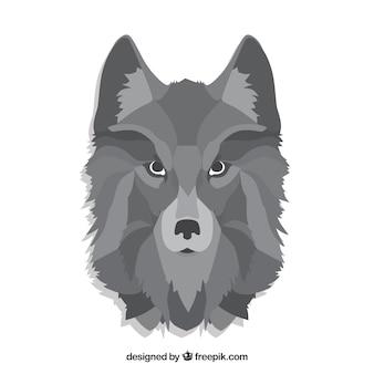 Fondo de cabeza de lobo