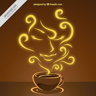 Fondo de café con aroma