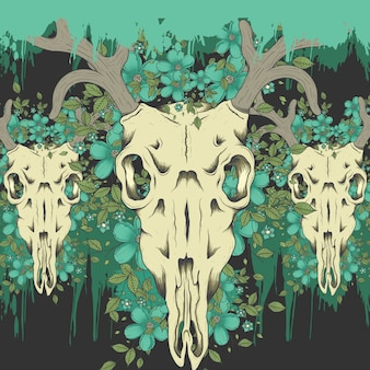 Fondo de calavera de ciervo