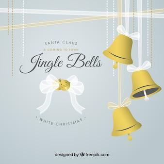 Fondo de Campanas de Navidad
