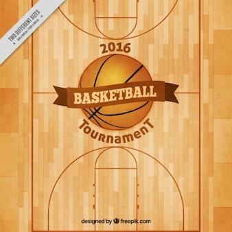 fondo de cancha de baloncesto