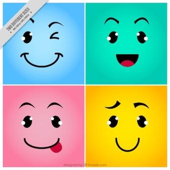 Fondo de caras de emoticonos