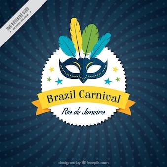 Fondo de carnaval de brasil con máscara