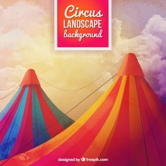 Fondo de carpas de circo