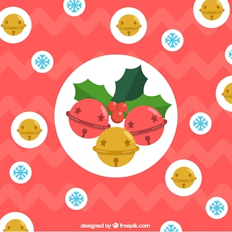 Fondo de cascabeles de navidad