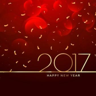 Fondo de celebración de año 2017 en color rojo