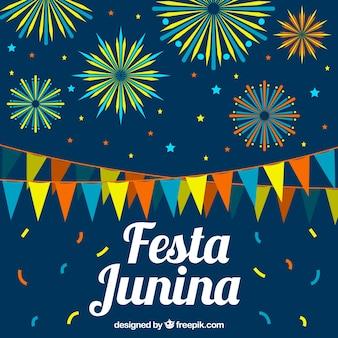 Fondo de celebración de festa junina