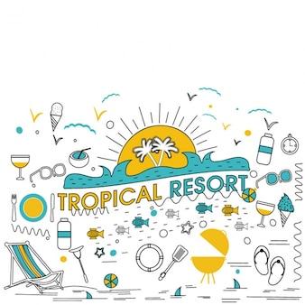 Fondo de centro turístico tropical