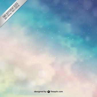 Fondo de cielo abstracto en tonos azules