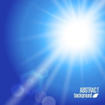 Fondo de cielo azul soleado