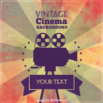 Fondo de cine vintage
