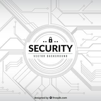 Fondo de circuito de seguridad