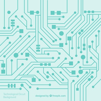 Fondo de circuito en diseño plano
