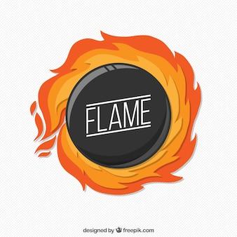 Fondo de círculo en llamas