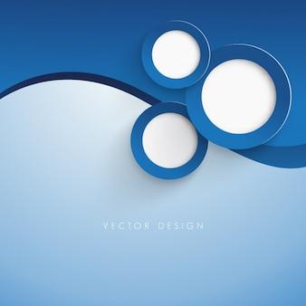 Fondo de círculos azul oscuro