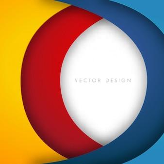 Fondo de círculos de diferentes círculos