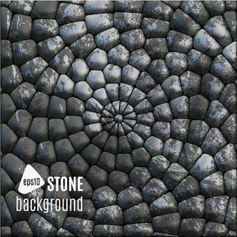 Fondo de círculos de piedra
