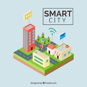 Fondo de ciudad inteligente