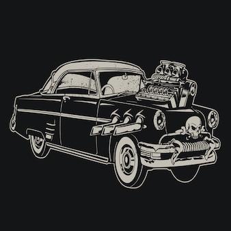 Fondo de coche vintage
