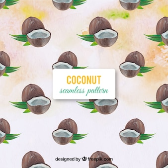 Fondo de cocos de acuarela