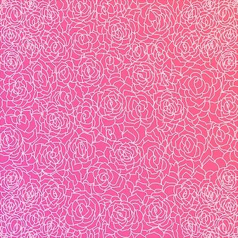 Fondo de color rosa fantástico con rosas blancas