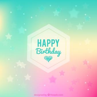 Fondo de colores con estrellas de feliz cumpleaños
