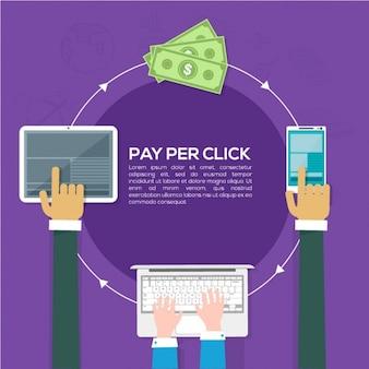 Fondo de comercio electrónico con diferentes dispositivos