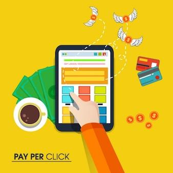 Fondo de comercio electrónico en diseño plano