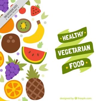 Fondo de comida vegetariana saludable