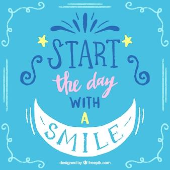 Fondo de comienza con una sonrisa