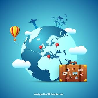 Fondo de concepto de viaje