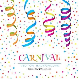 Fondo de confeti de carnaval colorido