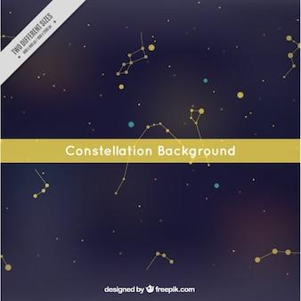 Fondo de constelación con círculos amarillos