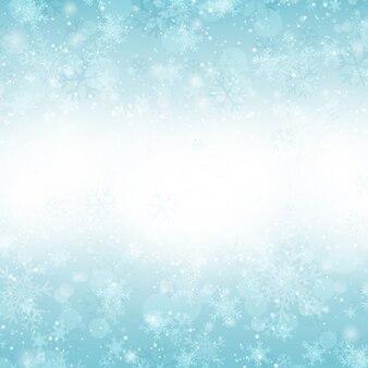 Fondo de copos de nieve brillante