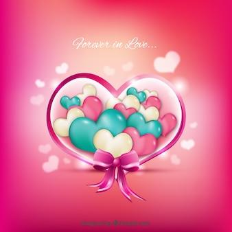 Fondo de corazones de colores