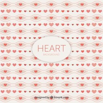 Fondo de corazones decorativos